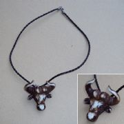 Bison Head Pendant Necklace